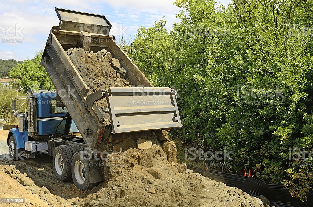 Road Dump stock photo