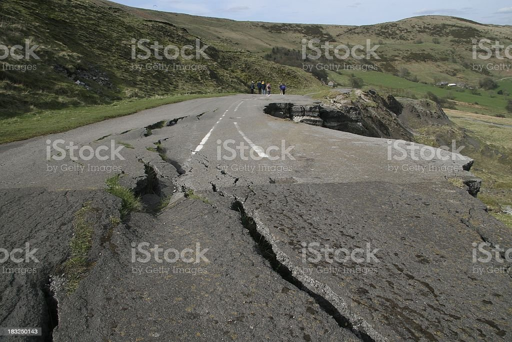Road Fall royalty-free stock photo