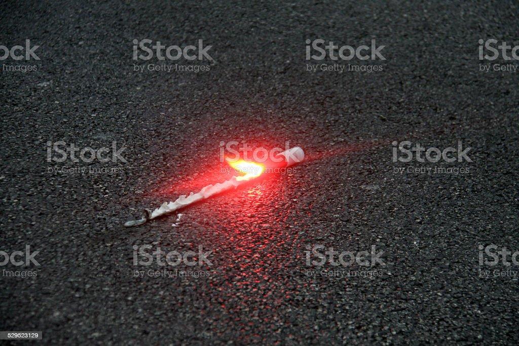 Road flare stock photo