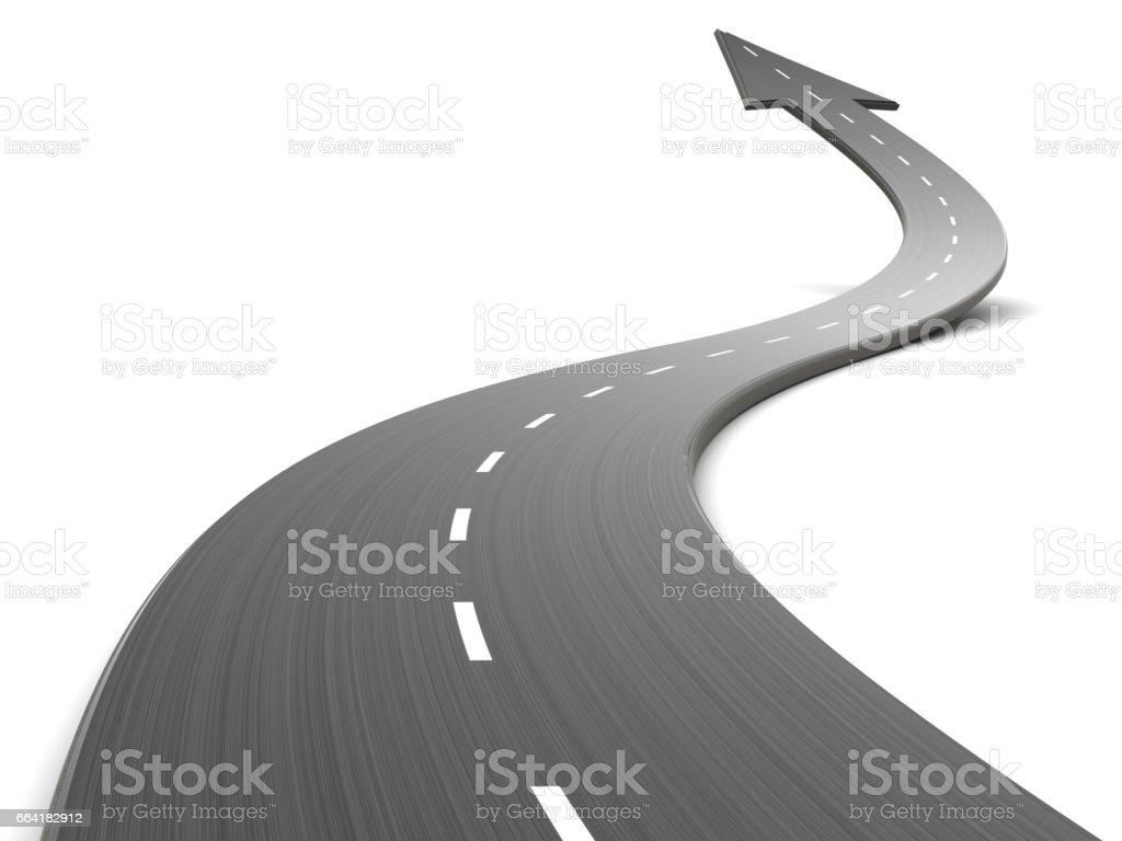 estrada para a frente - foto de acervo