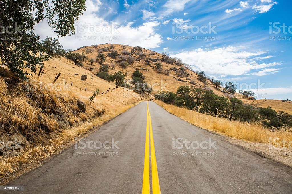 Road From Woody to Bakersfield stock photo