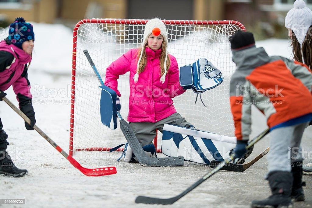 Road hockey stock photo