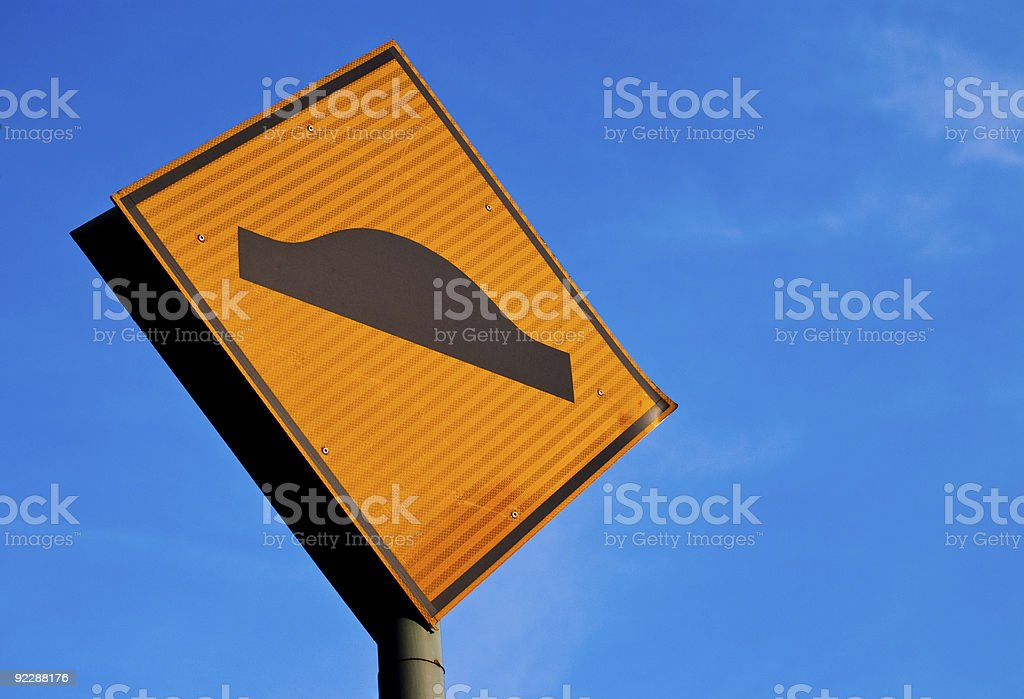 Road hump in front royalty-free stock photo