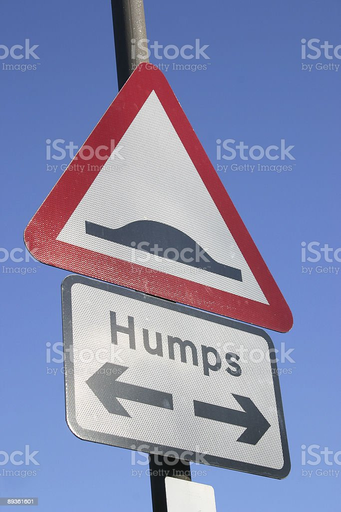 road humps royaltyfri bildbanksbilder