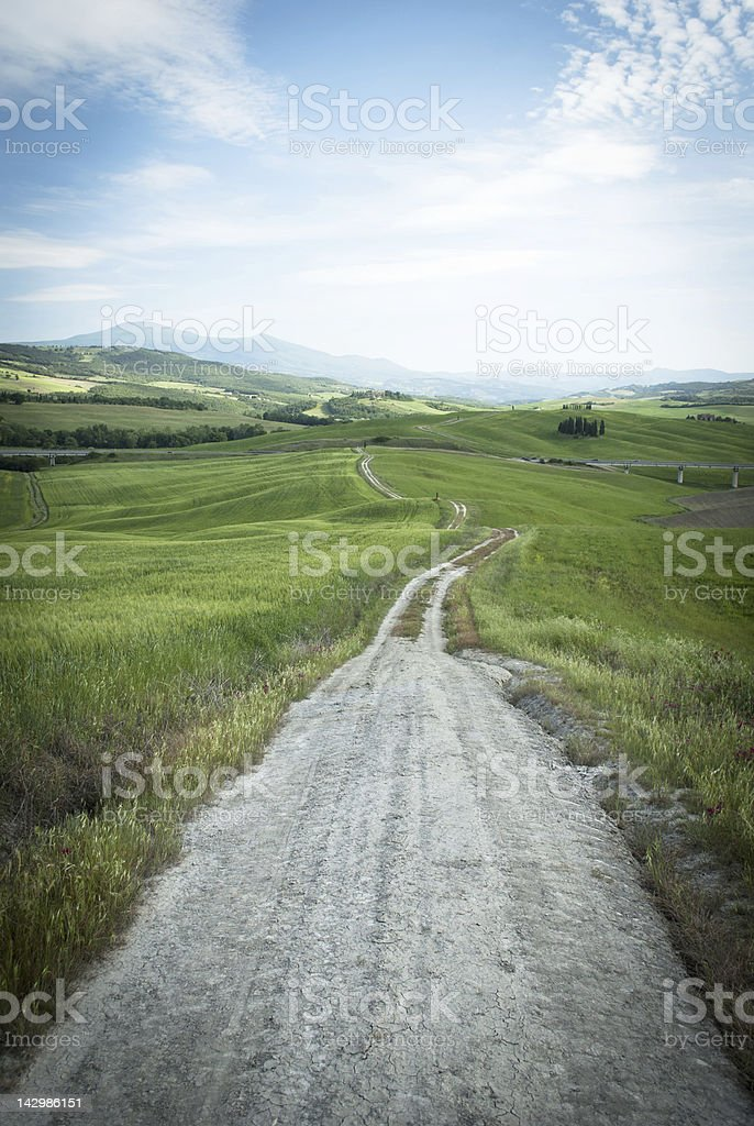 Road in a countryside royalty-free stock photo