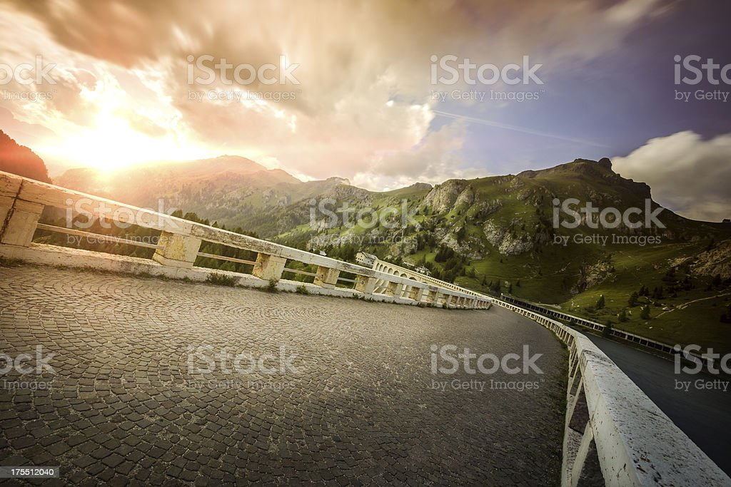 Road in a mountains royalty-free stock photo