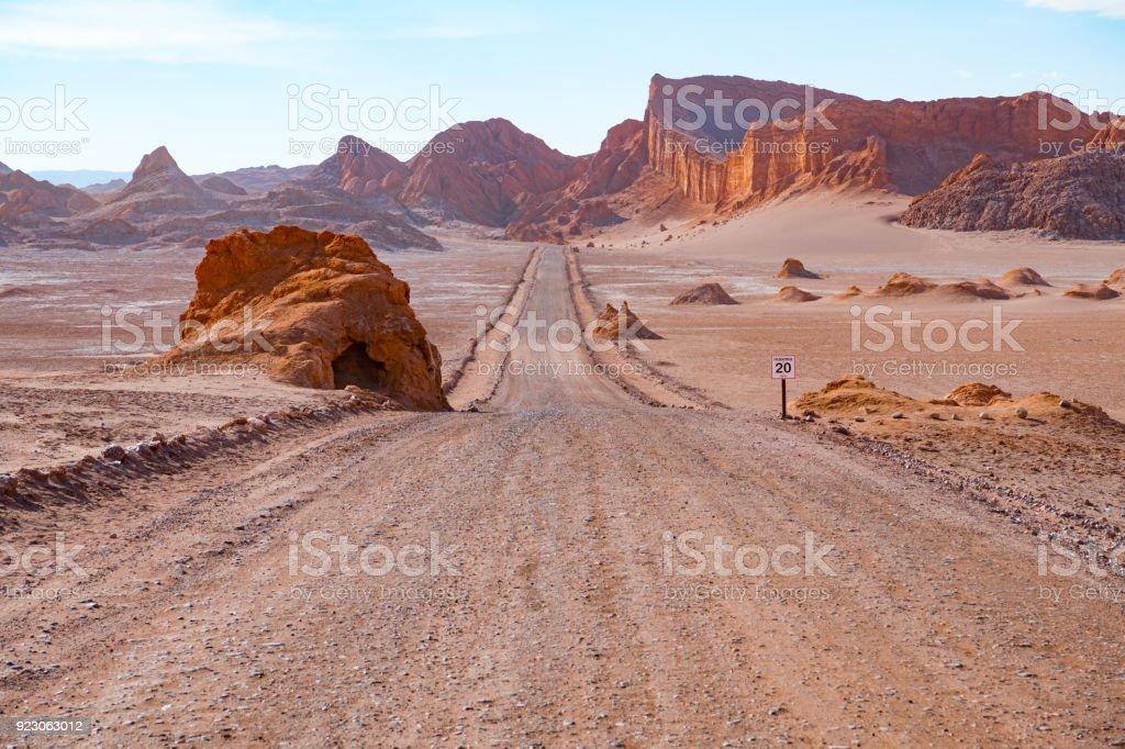 Straße in Atacama Wüste - Mond-Tal-Berge – Foto