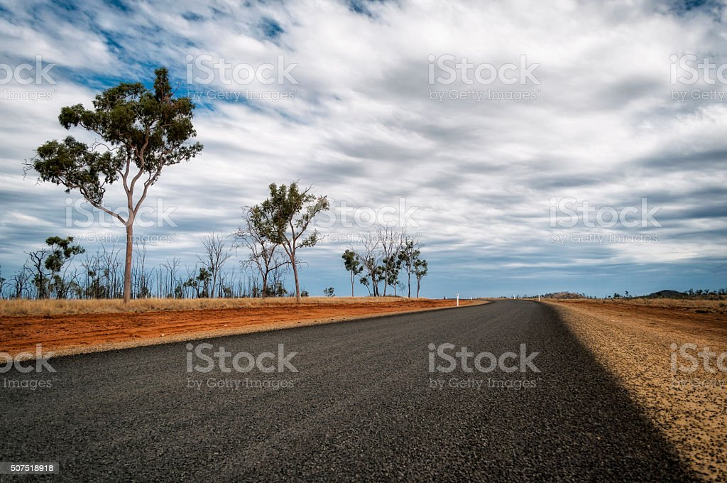 Road in Australia stock photo