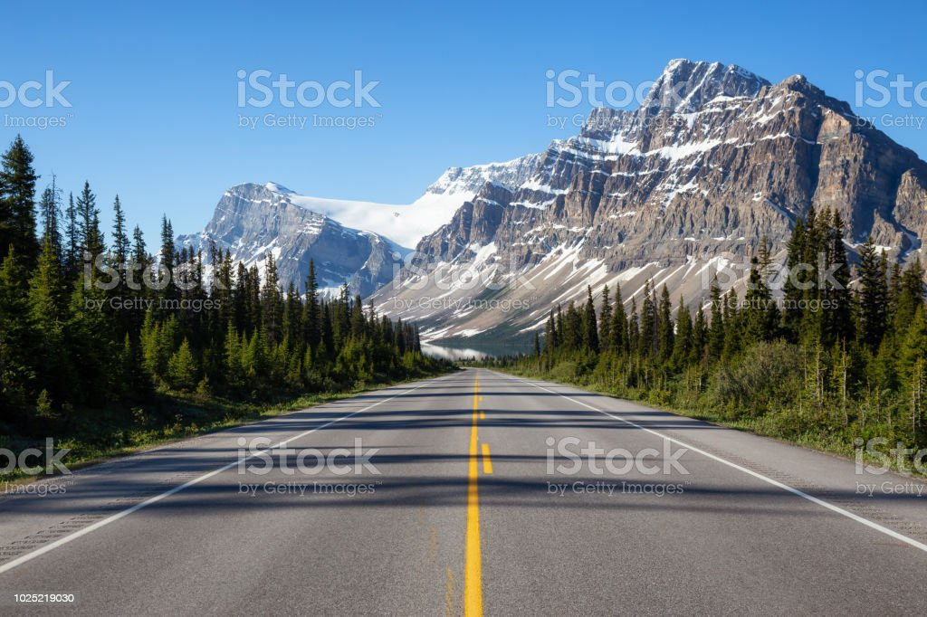 Road in Banff National Park stock photo