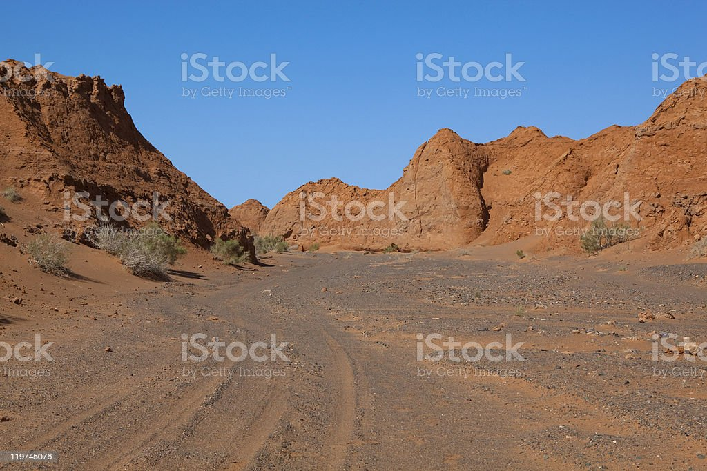 Road in canyon royalty-free stock photo