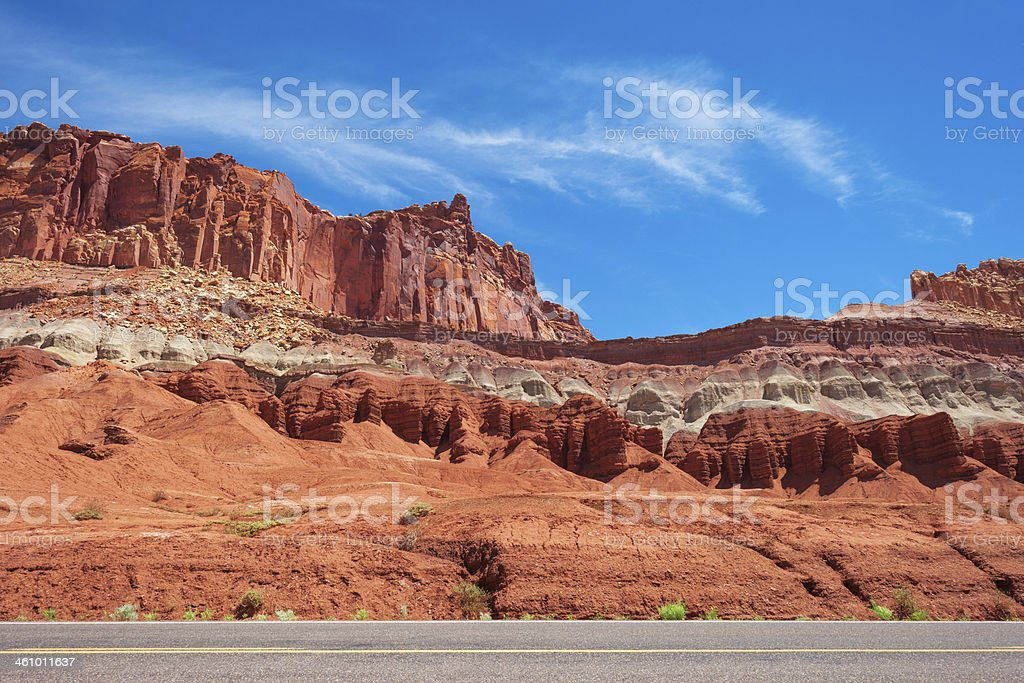 Road in Capitol Reef royalty-free stock photo