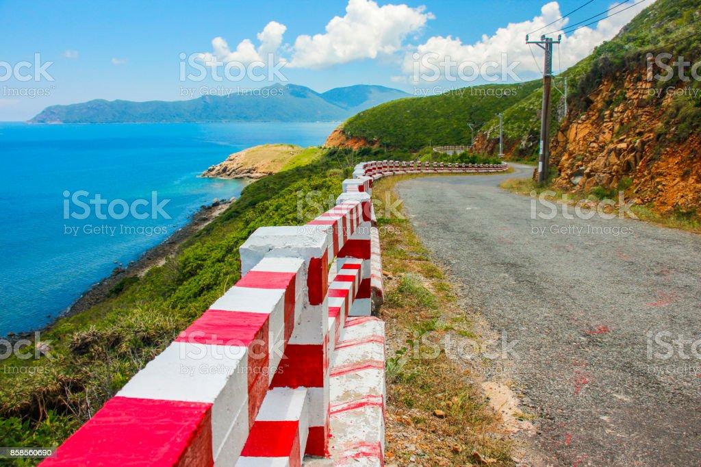 Road in Con Dao Islands stock photo