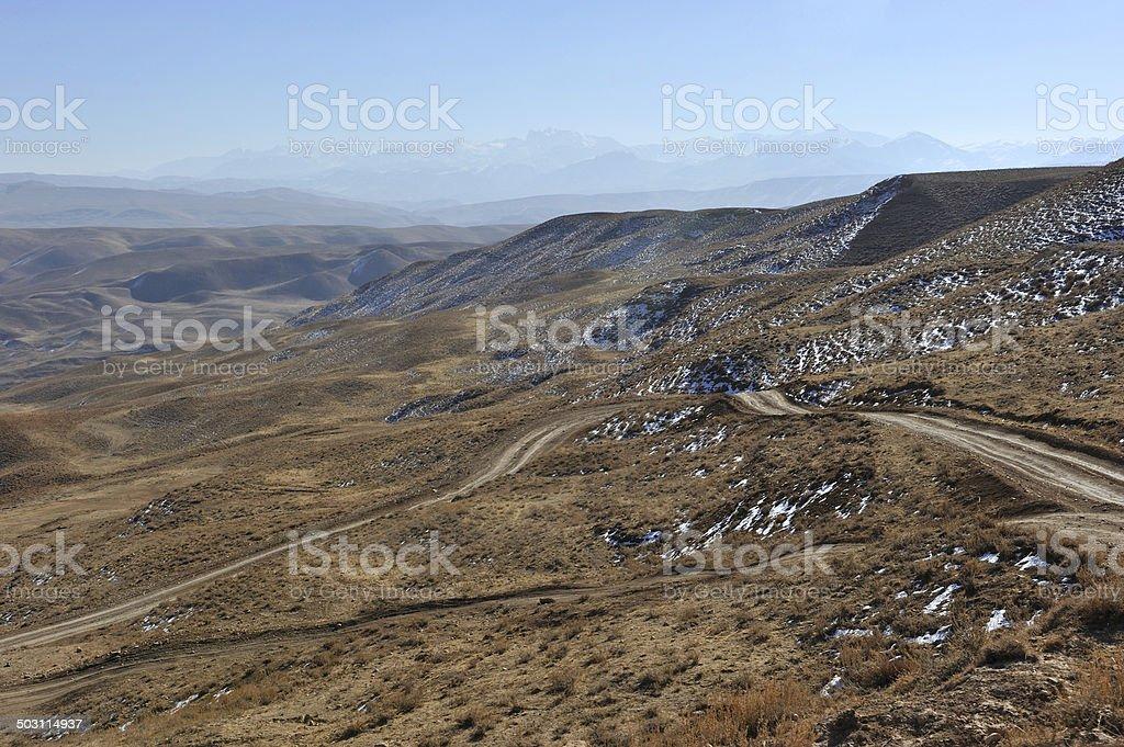 Road in desert, Afghanistan royalty-free stock photo