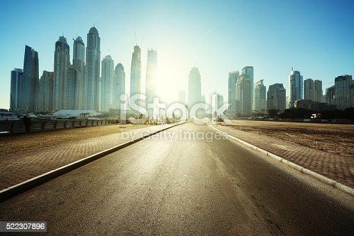 512697874 istock photo road in Dubai, United Arab Emirates 522307896