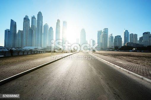 512697874 istock photo road in Dubai, United Arab Emirates 526568862