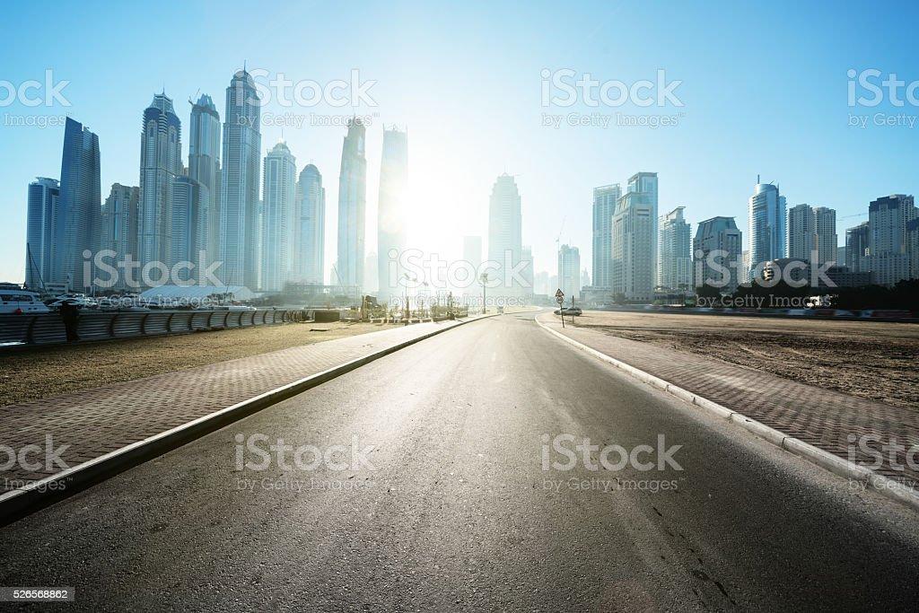 road in Dubai, United Arab Emirates stock photo