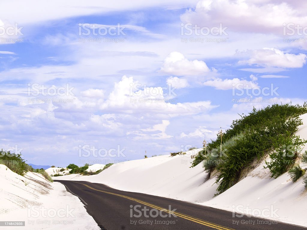 Road in  Dunes royalty-free stock photo