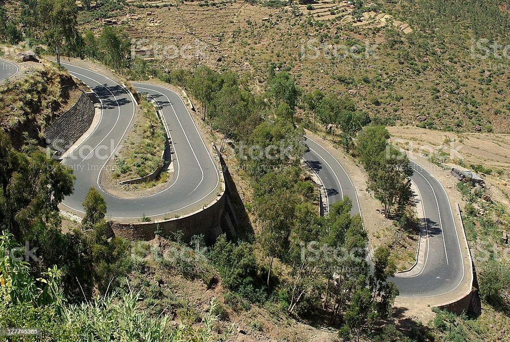 Road in Ethiopia royalty-free stock photo