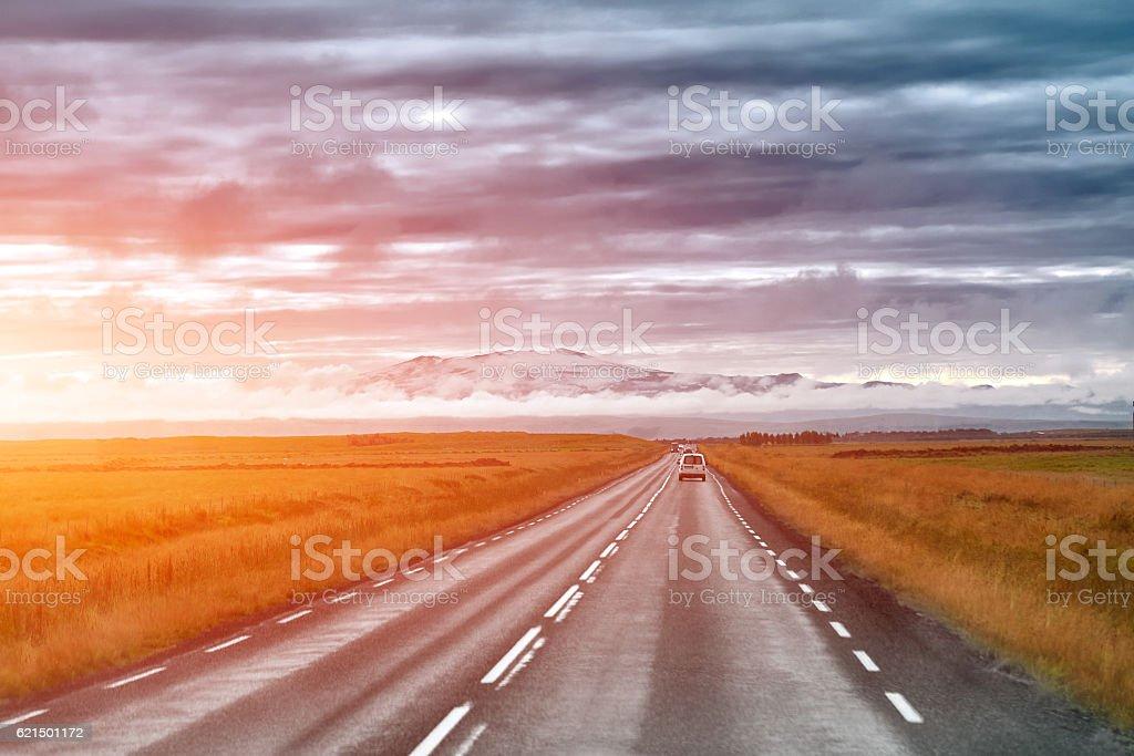 road in Island Lizenzfreies stock-foto