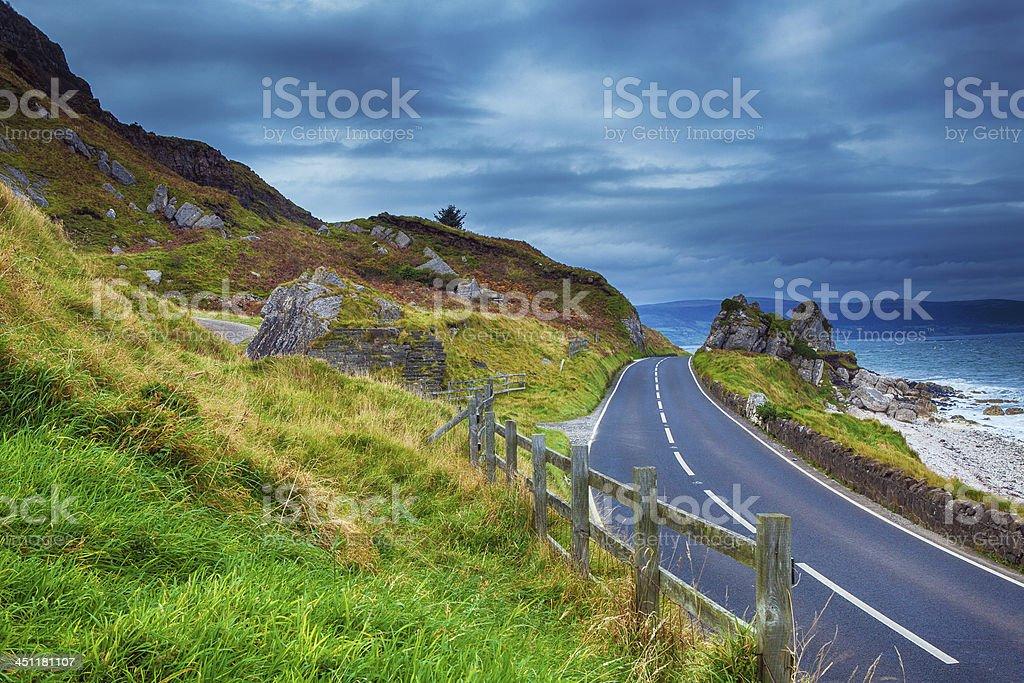 road in Ireland stock photo