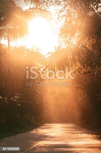 road in jungle of Thailand  islands
