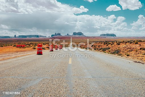 US-163 Road in Monument Valley