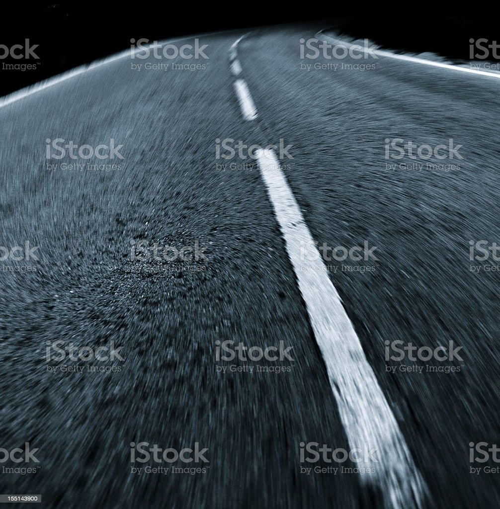 Road in motion blur royalty-free stock photo
