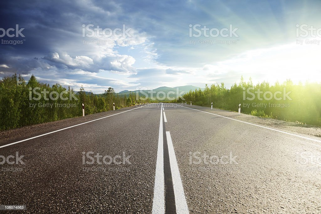 road in mountains royalty-free stock photo