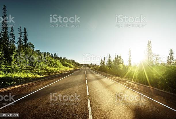 Photo of road in mountains