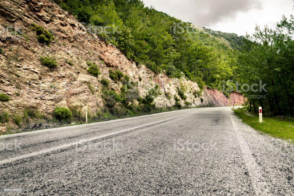 Road in Mugla province, Turkey stock photo