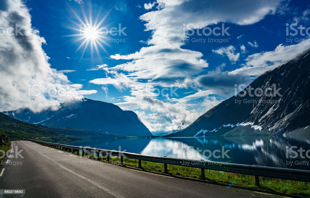 Road in Norway royalty-free stock photo