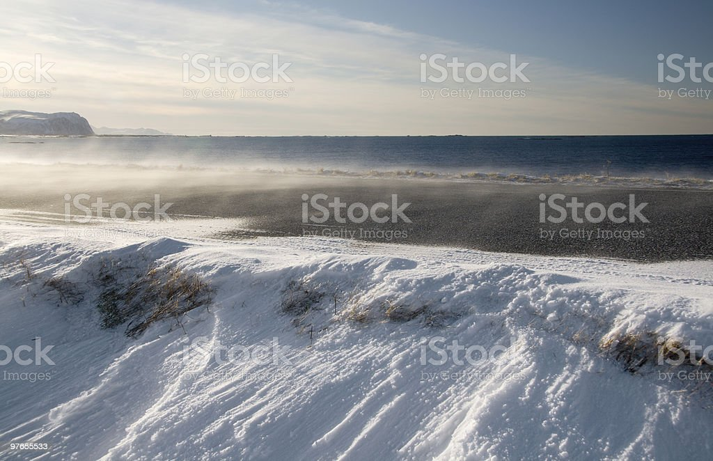 Road in snowdrift royalty-free stock photo