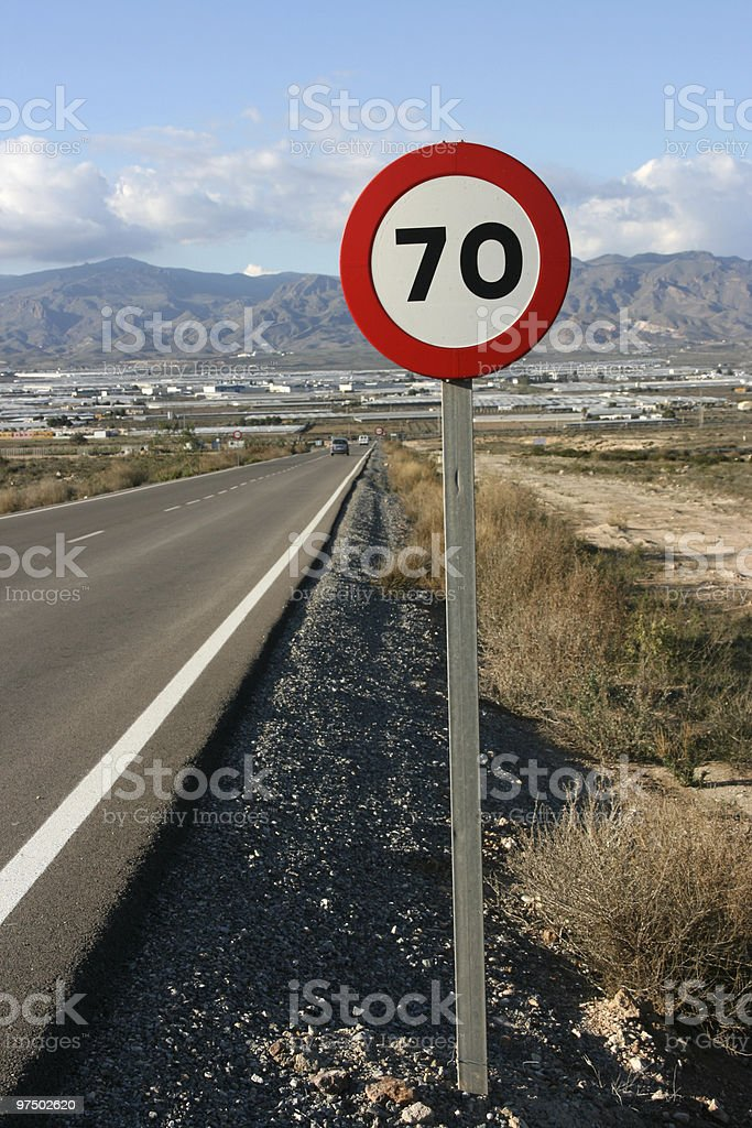 Road in Spain royalty-free stock photo