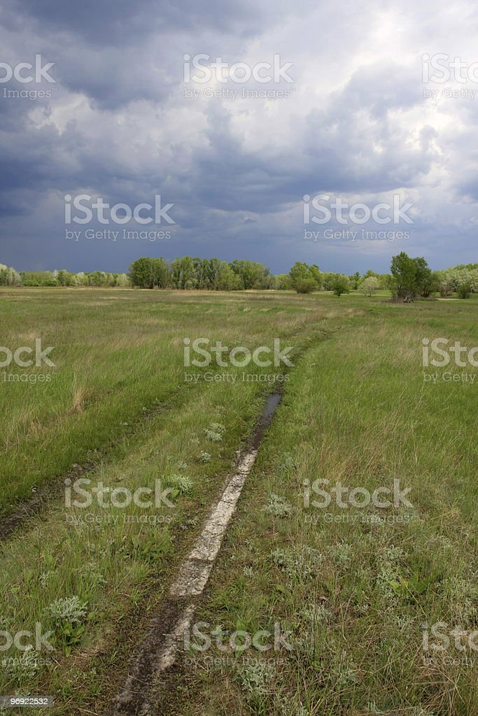 Road in steppe royalty-free stock photo