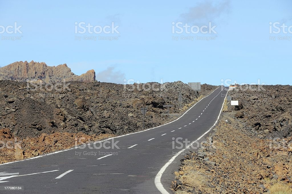 Road in Tenerife royalty-free stock photo