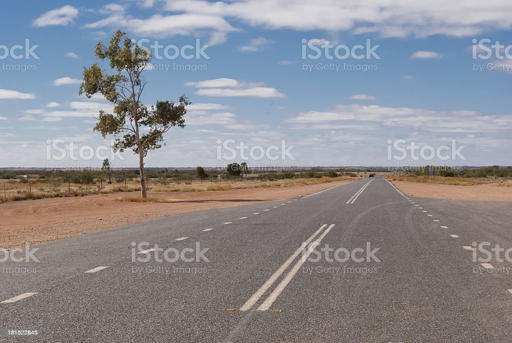 Road in the Australian outback, Northern Territory royalty-free stock photo