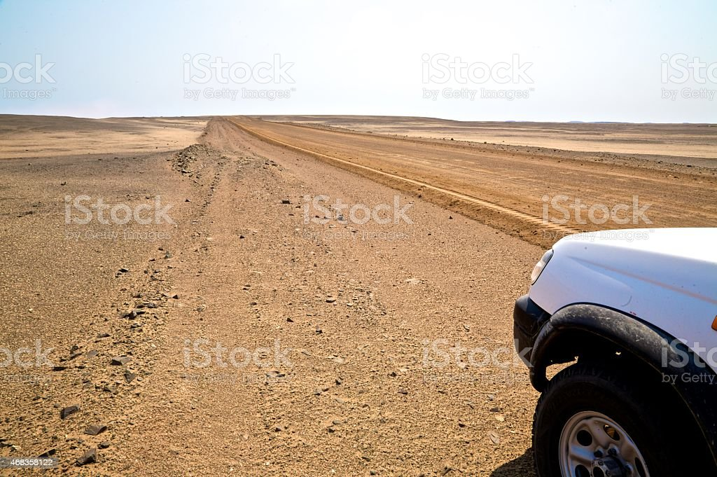 Road in the desert royalty-free stock photo