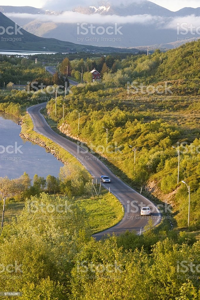 Road in the evening light royalty-free stock photo
