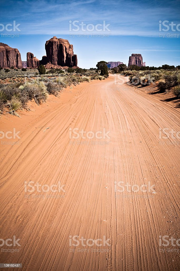 Road in the Monument Valley royalty-free stock photo