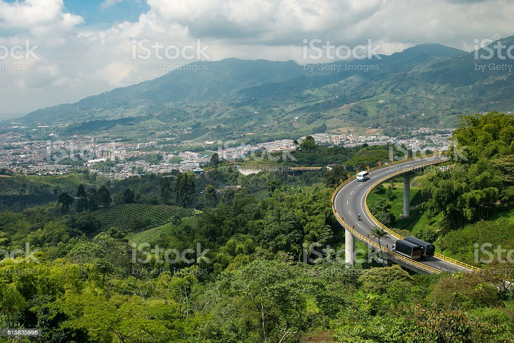 road in the mountains, colombia, latin america stock photo