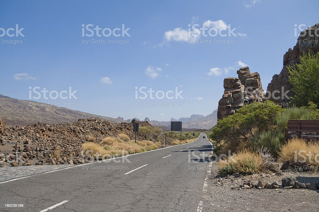 Road in the mountains of Tenerife royalty-free stock photo