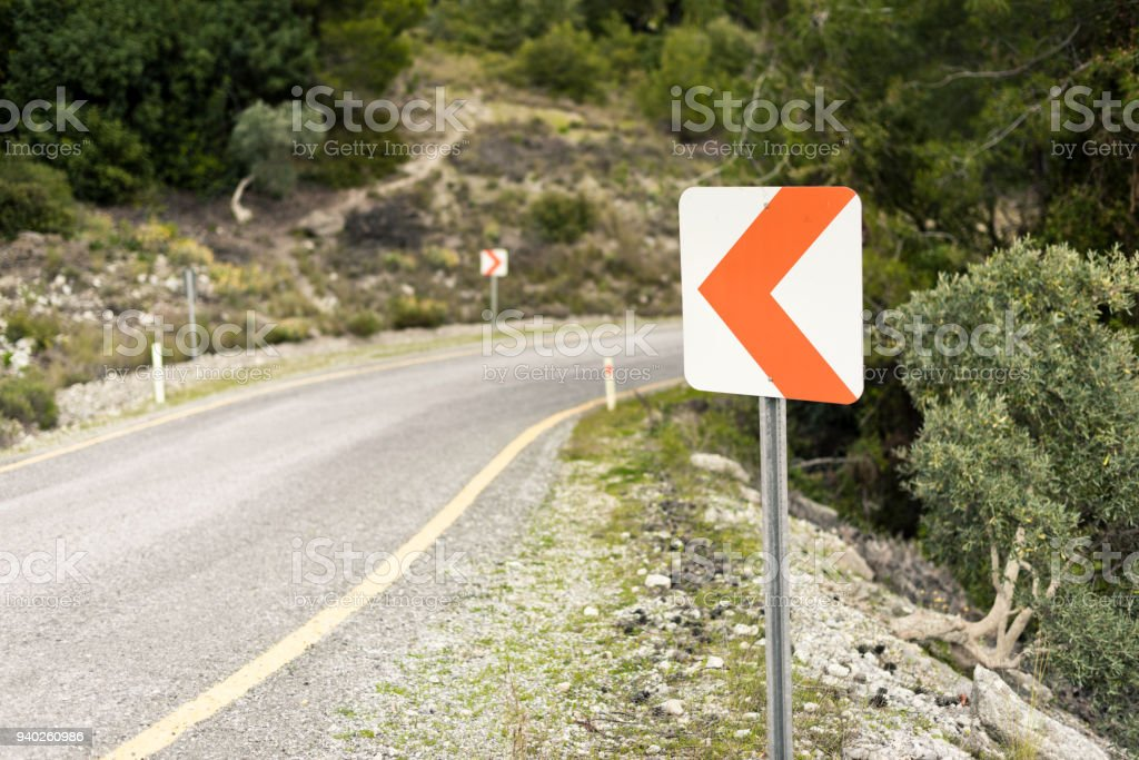A road in the mountains stock photo