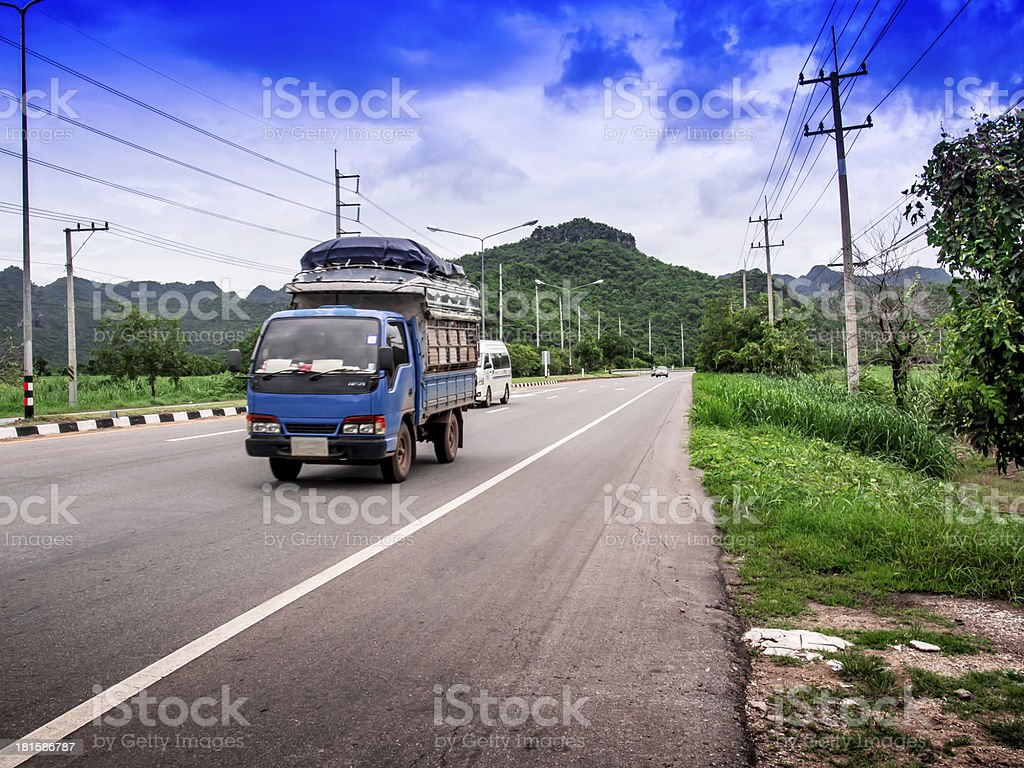Road in the province of Thailand royalty-free stock photo