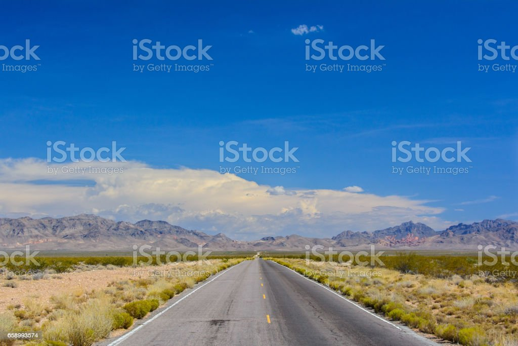 Road in the United States, California royalty-free stock photo