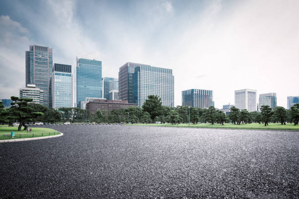 road in tokio - stadsweg stockfoto's en -beelden