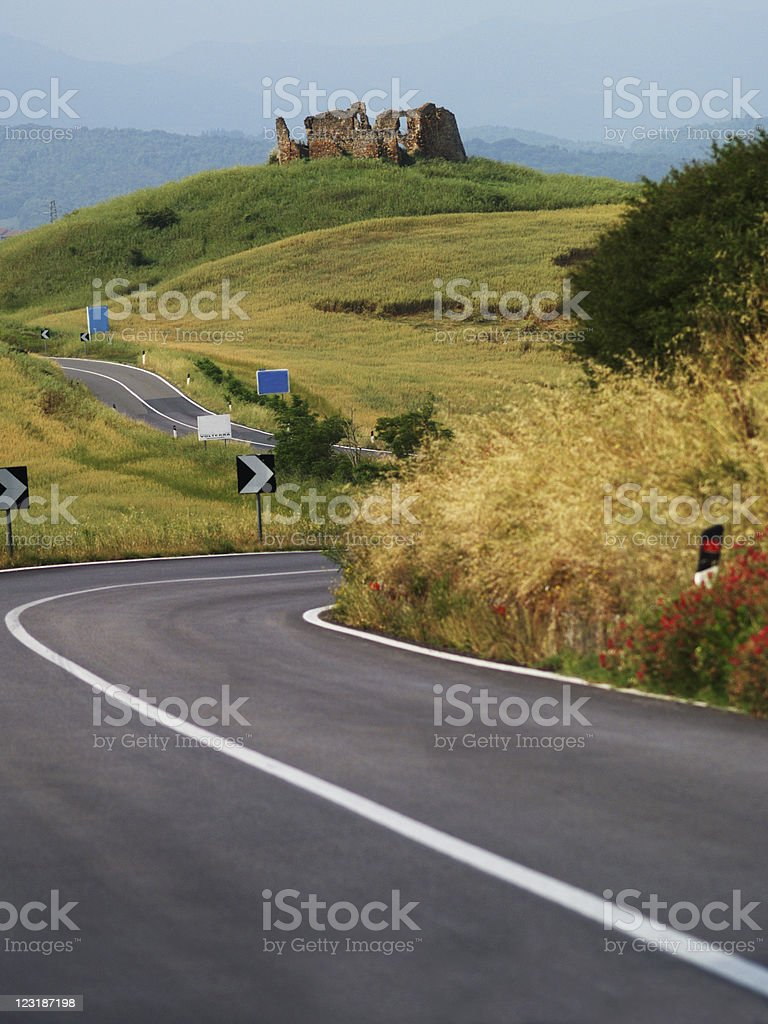 Road in Tuscany. royalty-free stock photo