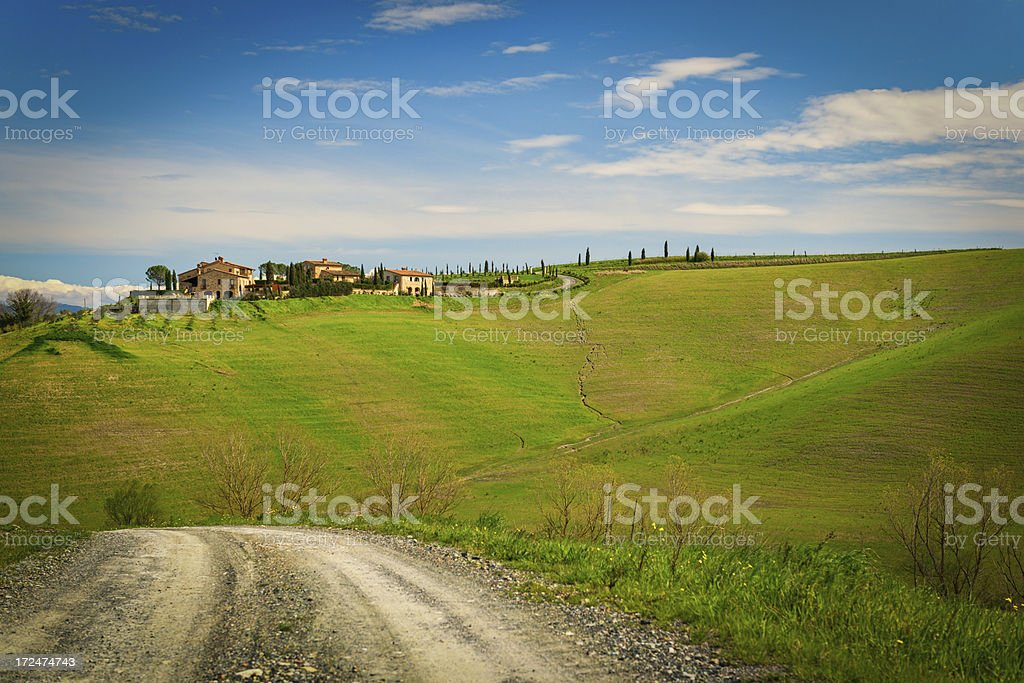 Road in Tuscany royalty-free stock photo