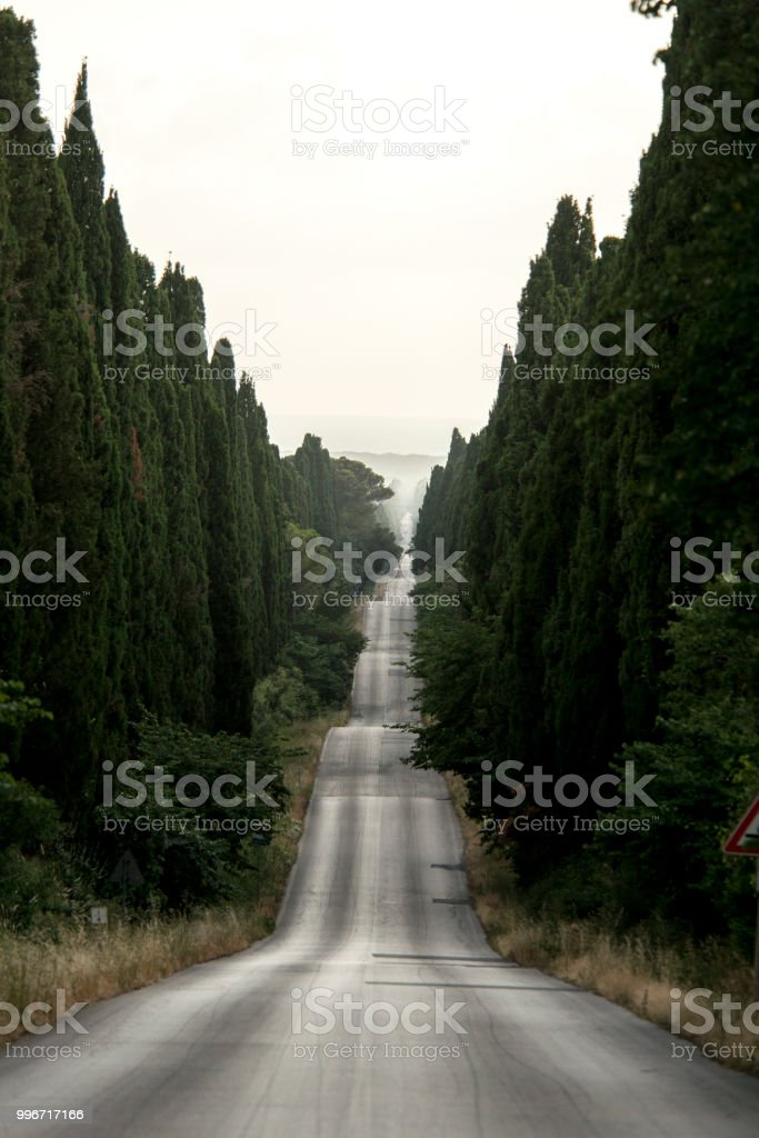 Road in Tuscany - foto stock