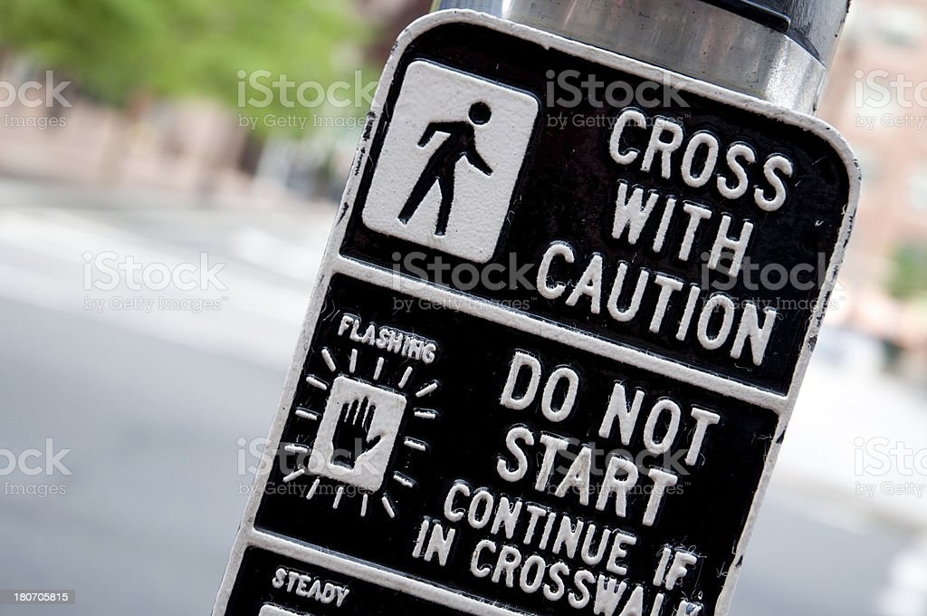 Road intersection sign stock photo