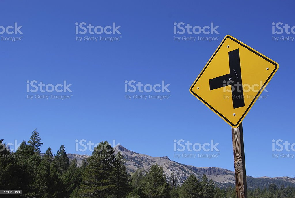Road Intersection Sign royalty-free stock photo